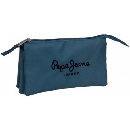 Portatodo triple Pepe Jeans Original Pepe Blue