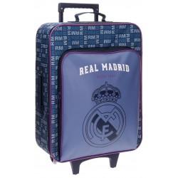 Maleta Trolley cabina  Real Madrid Bolsillo Básico