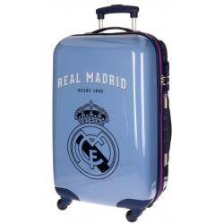 Maleta Trolley Mediana Real Madrid 4 Ruedas Azul