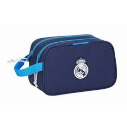 Neceser Doble Comapartimento Real Madrid Azul