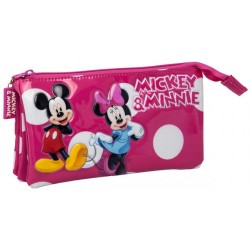 Estuche triple Minnie Mickey