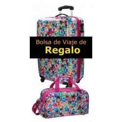 Trolley Mediano Movom Colección Tropic Rosa