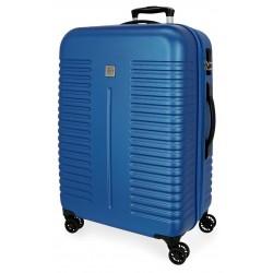 Maleta Grande Expandible en ABS y 4 Ruedas  India  Azul