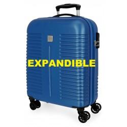 Maleta Cabina EXPANDIBLE en ABS y 4 Ruedas India Azul