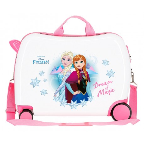 Maleta Infantil Correpasillos 50 cm  Ruedas Multidireccionables y con Asa y Bandolera Frozen Dream Of Magic