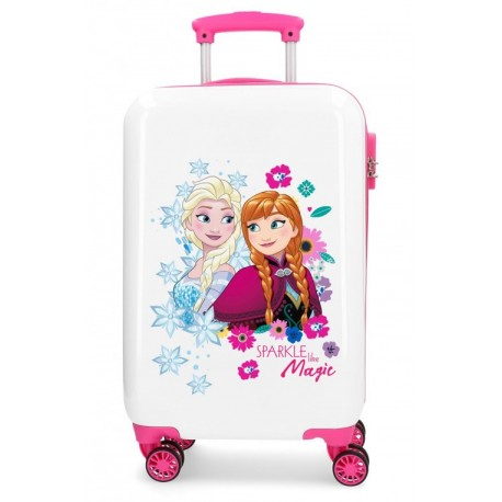 Maleta de Cabina Rígida en ABS de 4 Ruedas Sparkle Like Magic Frozen