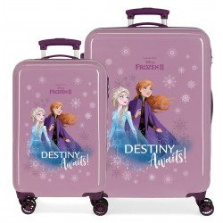 Juego Maletas Cabina y Mediana Rígidas en ABS Frozen II Destinity Awaits