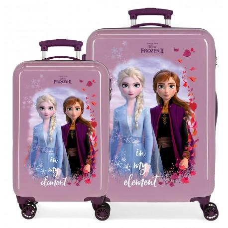 Juego Maletas Cabina y Mediana en ABS  Frozen II In My Element