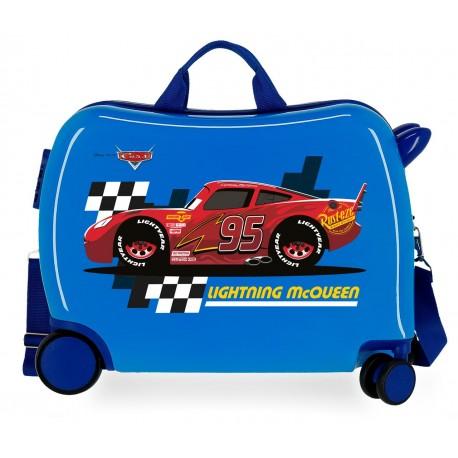 Maleta Infantil 50cm Correpasillos ABS 4 Ruedas Lightning Mcqueen Azul