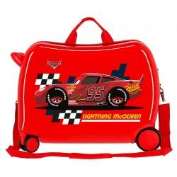 Maleta Infantil 50cm Correpasillos ABS 4 Ruedas Lightning Mcqueen Rojo