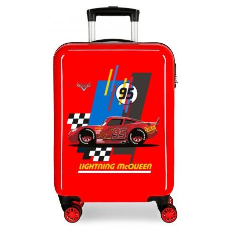 Maleta Cabina ABS 4 Ruedas Lightning Mcqueen Rojo