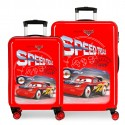 Juego Maletas Cabina y Mediana en ABS de 4 Ruedas Cars Speed Trials