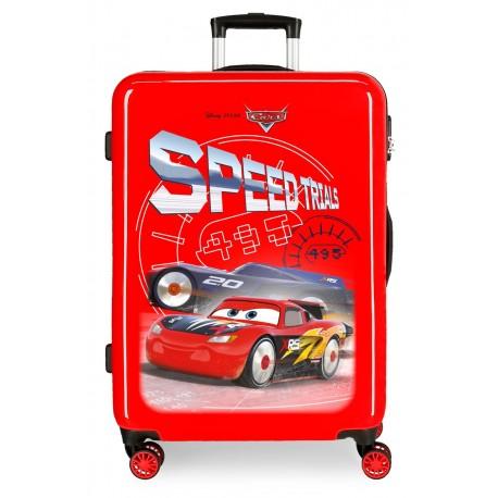 Maleta Mediana en ABS de 4 Ruedas Cars Speed Trials