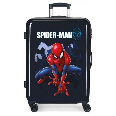 Maleta Mediana Rígida en ABS Spiderman Action