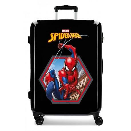 Maleta Mediana Rígida en ABS Spiderman Geo
