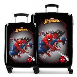 Juego de Maletas Cabina y Mediana en ABS de 4 Ruedas  Spiderman Red
