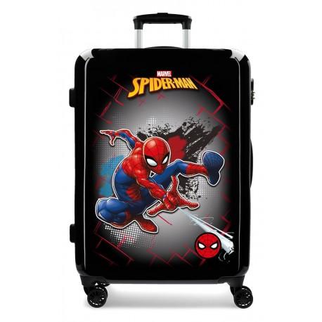 Maleta Mediana en ABS con 4 Ruedas Spiderman Red