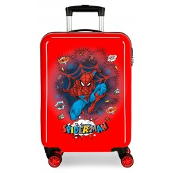 Maleta Cabina en ABS Spiderman Pop Rojo