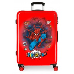 Maleta Mediana en ABS Spiderman Pop Rojo