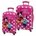 Set  2 maletas Minnie & Mickey Lunares 2071651