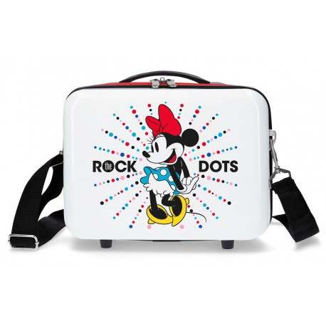 Neceser Rígido ABS Adaptable a Trolley con Bandolera  Minnie Rock Dots