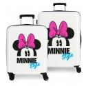 Juego de maletas Cabina y Mediana en ABS Minnie Style