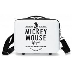 Neceser Rígido en ABS Adaptable y con Bandolera Mickey Style Hero