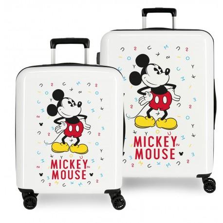 Juego Maletas Cabina y Mediana en ABS Mickey Style