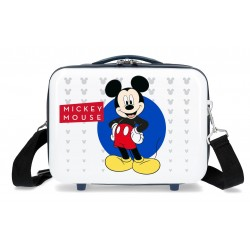 Neceser Rígido en ABS Adaptable a Trolley con Bandolera Mickey Enjoy the Day Blue