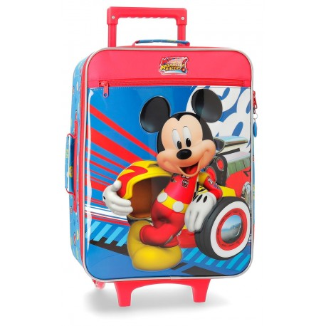 Maleta Infantil de 2 Rudas en Poliéster World Mickey