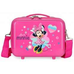 Neceser Rígido en ABS con Bandolera y Adaptable a Trolley Love Minnie