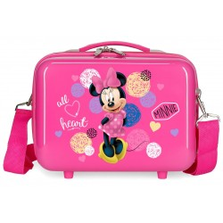 Neceser Rígid Adaptable a Trolley con Bandolera Love Minnie