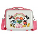 Neceser Rígido Adaptable a Trolley con Bandolera Minnie Around The World The Earth