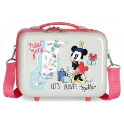 Neceser Rígido Adaptable a Trolley con Bandolera Minnie Around The World New York