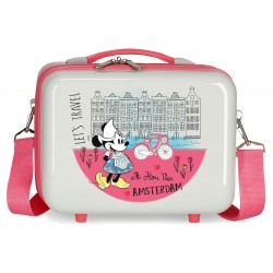 Neceser Rígido Adaptable a Trolley con Bandolera Minnie Around He World Amsterdam