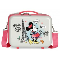 Neceser Rígido en ABS Adaptable a Trolley con Bandolera Minnie Around The World Paris