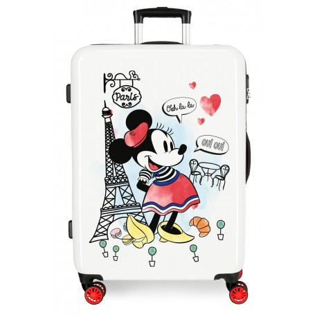 Maleta mediana Rígida en ABS de 4 Ruedas Minnie Around The World Paris