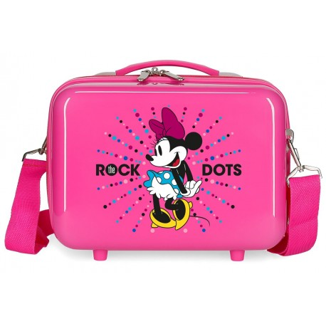 Neceser Rígido en ABS Adaptable y con Bandolera Minnie Sunney Day Rock Dots