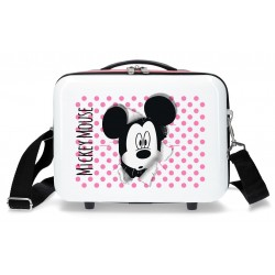 Neceser Rígido Adaptable a Trolley con Have A Good Day Mickey en Blanco