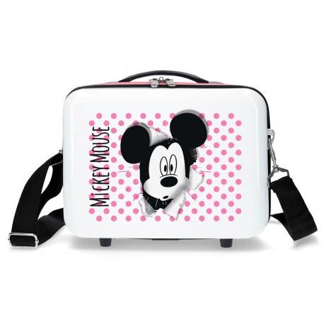 Neceser Rígido Adaptable a Trolley con Have A Good Day Mickey en Blanco