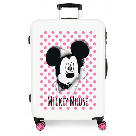 Maleta Mediana en ABS Have A Good Day Mickey en Blanco