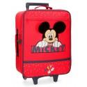 Maleta Infantil de 2 Ruedas en Poliéster  Happy Mickey Rojo
