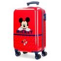 Maleta de Cabina Rígida en ABS  Happy Mickey Rojo