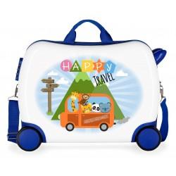 Maleta Infantil 50 cm Correpasillos  Little Me Happy Azul