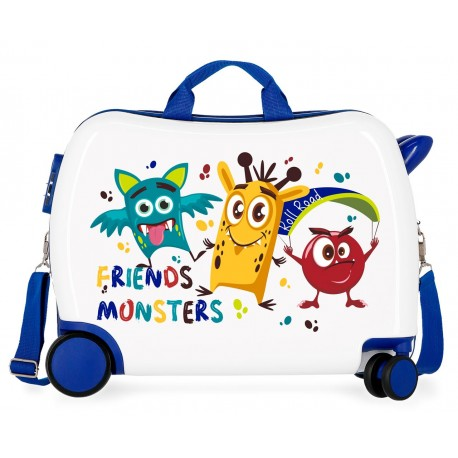 Maleta Infantil 50cm Correpasillos Little Me Friends Azul