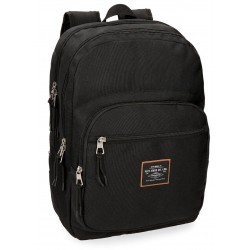 Mochila Grande 44cm Doble Compartimento Adaptable a Carro Cross Negro