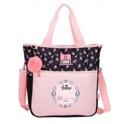 Bolso Shopper con Portaordenador con Asa y Bandolera Enso Colección Daisy