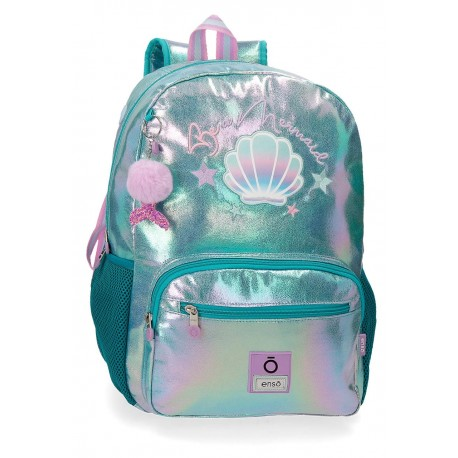 Mochila Grande 42cm Portaordenador con Bolso Frontal Adaptable a Carro Enso Be Mermaid