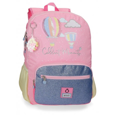 Mochila Grande de 44cm con Doble Compartimento y Bolso Frontal  Adaptable a Carro Enso Collect Moments