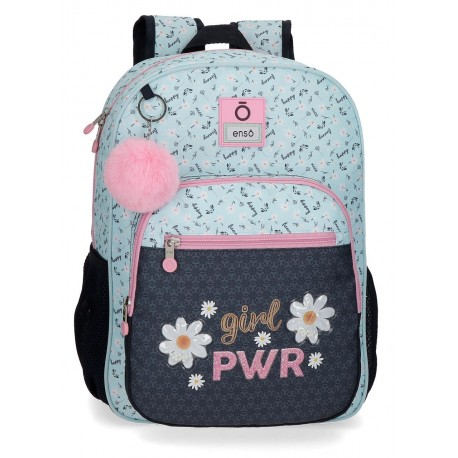 Mochila Mediana 38cm con Bolso Frontal  Adaptable al  Carro Enso Colección Girl Power